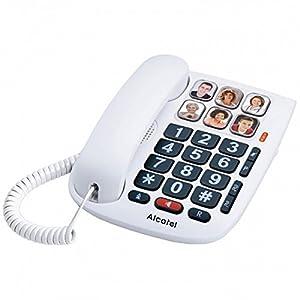 Alcatel TMAX 10 – Kabelgebundenes Telefon für Senioren, Weiß
