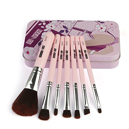 Make-Up-Pinsel-Set, HöLzerne GrifflippenbüRstenaugenbüRste FlüSsige Grundierungschatten Eyeliner Make-Up-Pinsel