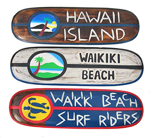 Surfboard Dekoration 3er-Set 60cm Surfbretter Surfboards Hawaii