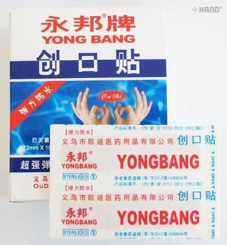 HAND YONG BANG Marke Sheer Wasserdicht Atmungsaktiv Plasters- 100 Putze pro Box (8d-box)