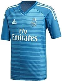 3340b6471b adidas Camiseta Real Madrid Portero Segunda Equipación 2018-2019 Niño Bold  aqua-Unity blue