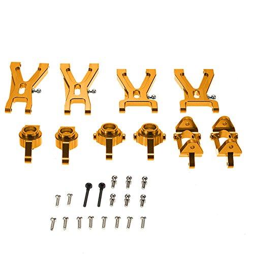 KINGDUO Wltoys A959-B A979-B A969 A979 K929 Upgrade Metallteile Paket Suspension Arm Stahlring Radnabe-Gold