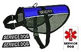 Dogline N0253–2-0210Service Vest Hund Harness, X-Large/76,2x 96,5cm blau