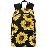 Interestprint Custom Summer Sunflower Pttern Casual Backpack School Bag Travel Daypack Gift