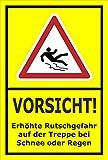 Melis Folienwerkstatt Schild - Rutsch-Gefahr - 15x10cm | Bohrlöcher | 3mm Aluverbund – S00018-046-C -20 Varianten