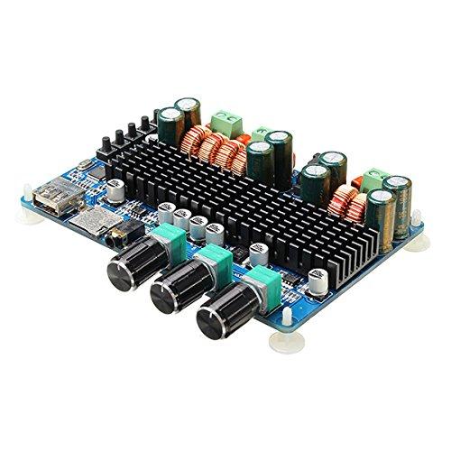 LaDicha Sanwu Bluetooth sans Fil 2,1 Canaux Conseil Amplificateur 50W + 50W Sortie Stéréo 100W Basse Sortie