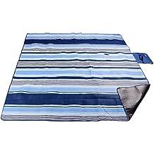 XXL-Large al aire libre Picnic manta, forro impermeable 200x 200cm de forro polar suave Material bolsa para esterilla de Camping
