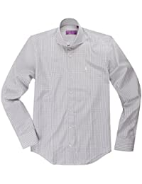 YVES IZO Hommes Chemise Gris/Blanc Standford YI1109A1262A