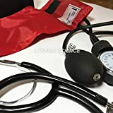 World Beauty's Red New Blood Pressure Monitor BP Cuff Arm Aneroid Sphygmomanometer