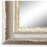 Spiegel Wandspiegel Badspiegel Flurspiegel Garderobenspiegel - Über 200 Größen - Trento Beige Silber 5,4 - Außenmaß des Spiegels 90 x 100 - Wunschmaße auf Anfrage - Antik, Barock