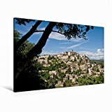 Premium Textil-Leinwand 120 cm x 80 cm quer Gordes   Wandbild, Bild auf Keilrahmen, Fertigbild auf echter Leinwand, Leinwanddruck (CALVENDO Natur)