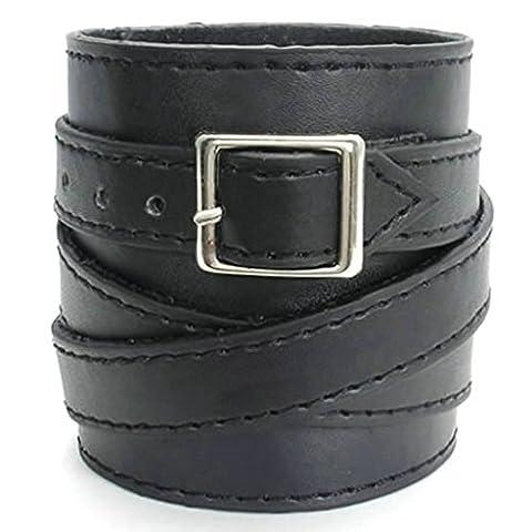 amdxd Bracelet jonc plaqué or style vintage hommes bracelets noir Longueur: 20,3cm Bracelet Gourmette