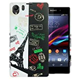 Heartly Flag Printed Design Hybrid Tough Armor Hard Bumper Back Case Cover For Sony Xperia Z1 C6902 L39H - France
