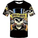 ZCYTIM Marke Schädel T-Shirt Guns N Roses Dressing Pistolets Hauts Punk Dressing...