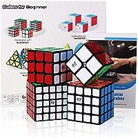Roxenda Speed Cube Ensemble Moyu 2x2 3x3 4x4 5x5 Cube Magique Brillant sans Autocollant Cubing Classroom Smooth Puzzles Jeu de Cubes avec Emballage Cadeau