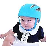 Qiorange Casque Sécurité Bébé Casque de Protection Bébé Sécurité Domestique en Coton Douce Réglable Antichoc (Bleu)