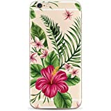 iPhone 6 Plus, iPhone 6S Plus - Coque gel souple incassable avec impression de motif fantaisie NOVAGO (Bouquet Exotique)