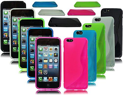 Bumper Slim Gel Silikon Back Case für Apple i Phone 6Plus 5,5+ Displayschutzfolie schwarz
