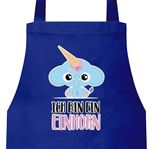 Elephant Apparel (ShirtStreet süße Geschenkidee Unicorn Eis Ice Cream Frauen Herren Barbecue Baumwoll Grillschürze Kochschürze Elefant - Ich bin ein Einhorn, Größe: onesize,Royal Blau)