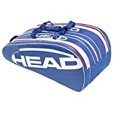 HEAD Schlägertaschen Elite Monstercombi, Blau, 75 x 32.5 x 38 cm, 55 Liter, 283404-BLWH