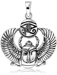 Scarabaeus Anhänger aus Silber 925 ägyptisches Symbol für Auferstehung