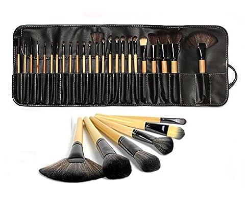 Lydia® UK Stock 24professionnel manche en bois naturel Pinceau de