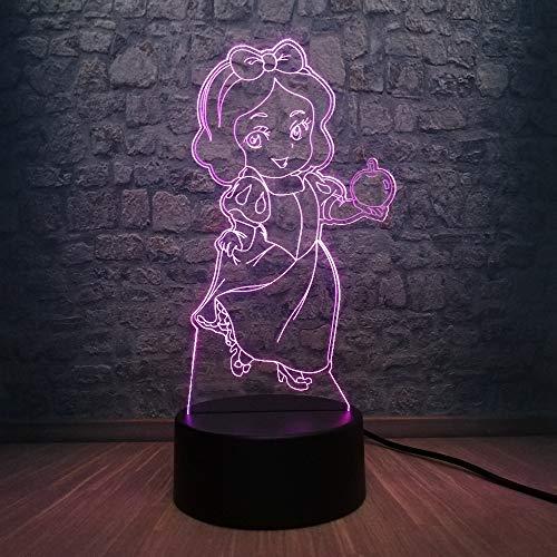 Karikatur 3D Führte Usb-Lampen-Apple-Mädchen-Geburtstagsgeschenk-Baby-Raum-Kinderzimmer-Dekor-Nachtlicht (Mädchen-raum-dekor Disney)