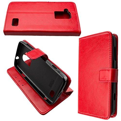 caseroxx Hülle/Tasche Bookstyle-Case Doro Liberto 824/825 Handy-Tasche, Wallet-Case Klapptasche in rot