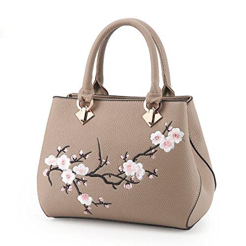 Neue Koreanische Version Der Stickerei Kleine Quadratische Tasche Damen Kettenschulter Messenger Bag Khaki