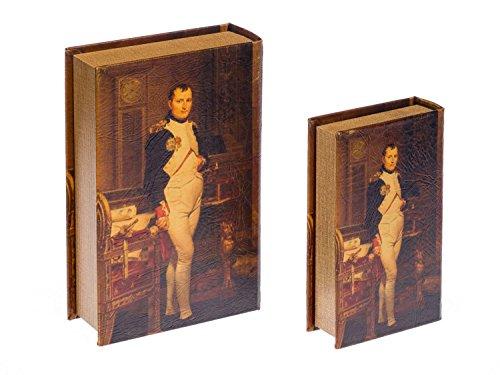 2x Schatulle Napoleon Buchattrappe Box Kästchen Schmucketui Buchtresor book box - 2