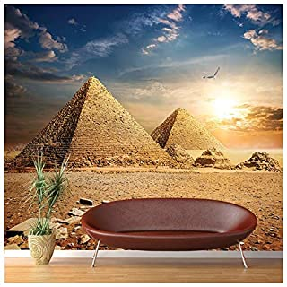 azutura Egyptian Pyramids Wall Mural Landmarks Photo Wallpaper Bedroom Office Home Decor available in 8 Sizes Gigantic Digital