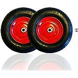 2x HSM carretilla Cilindro de rueda para carretilla con manguera 4.804.00–8para carretilla carro 200Kg en Llanta de acero