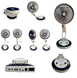 #2: SpaceLite SL-6610 10''Inch Mini Rechargeable 2 Speed Foldable Table Fan With LED Lamp