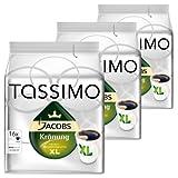 Tassimo Jacobs Krönung XL, Kaffee, Arabica, Kaffeekapsel, gemahlener Röstkaffee, 3er Pack, 3 x 16 T-Discs