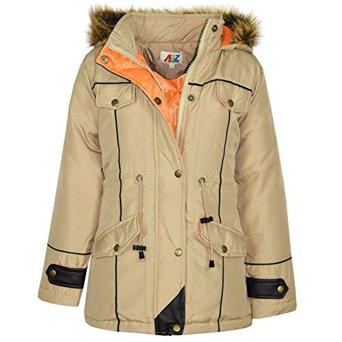 50de9772bce2 A2Z 4 Kids Kids Coat Girls Fleece Parka Jacket Long Faux Fur Hooded ...