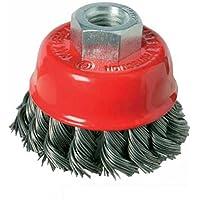 Silverline 486937 - Cepillo de vaso de acero trenzado (100 mm)