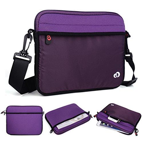 Kroo Tablet/Laptop Hülle Sleeve Case mit Schultergurt für Dell Streak 7/Venue 8 violett violett