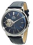 Orient classico meccanico 'Bambino' Open Heart convesso quadrante orologio Midnight Blue ra-ag0005l