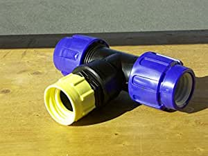 t st ck f r 25mm rohr verbinder f r ibc wassertanks zum verbinden von ibc regenwassertanks 40mm. Black Bedroom Furniture Sets. Home Design Ideas