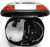 43 top box Litre Moto - Scooter indietro scatola, bagagliaio moto, scatola, caso (argento / nero)
