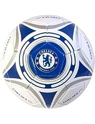 Chelsea FC CH03457 Ballon de Football Mixte Enfant, Blanc/Bleu