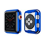 NotoCity Apple Case TPU de Protection Cas de Montre de la Couverture Ultra-mince pour Apple Watch Nouvelle série 2, série 3 (42mm, Bleu)