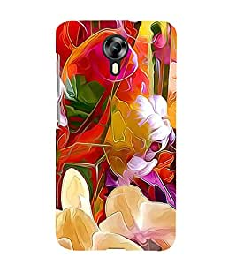 Bright Colourful Flower Pattern 3D Hard Polycarbonate Designer Back Case Cover for Micromax Canvas Xpress 2 E313