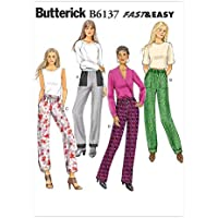Vogue Patterns 6137 E5 - Patrones de Costura (Tallas 42-50, Pantalones para Mujer)