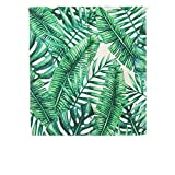 SHUNSHUNML Japanischer Vorhang Pflanzen Serie Palm Leaf Vorhang Baumwolle Und Leinen Dekoration Hause Feng Shui Vorhang Wohnzimmer Trennwand Vorhang Hängen Vorhang Benutzerdefinierte 85 × 120Cm Karte