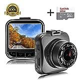 Mini Dash Cam + 32GB SD Card, Senwow Car Camera [Upgrade Version G55]