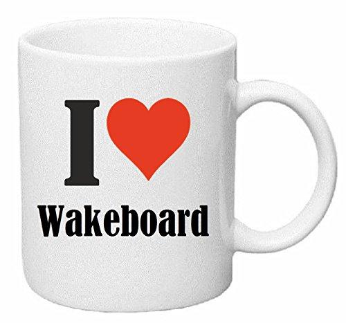 Reifen-Markt Kaffeetasse I Love Wakeboard Keramik Höhe 9,5cm ? 8cm in Weiß