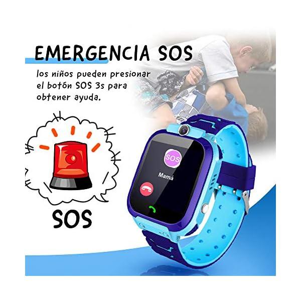NAIXUES Smartwatch Niños, Reloj Inteligente Niño IP67, LBS, Hacer Llamada, Chat de Voz, SOS, Modo de Clase, Cámara… 6