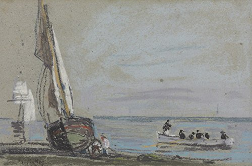 Das Museum Outlet-Sailing Boats on the shore-Poster Print Online kaufen (76,2x 101,6cm)