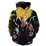 Jandz] Dragon Ball Sweats à Capuche Unisexe: Portrait, Impression 3D, Dessins de Otaku, Cosplay, Manga, Dessin animé (Asian (4XL) → EU (2XL), Design-778)
